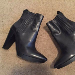 robert clergerie Black Ankle Leather Boots Booties